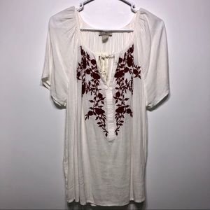 NWT lucky brand boho chic floral top size L